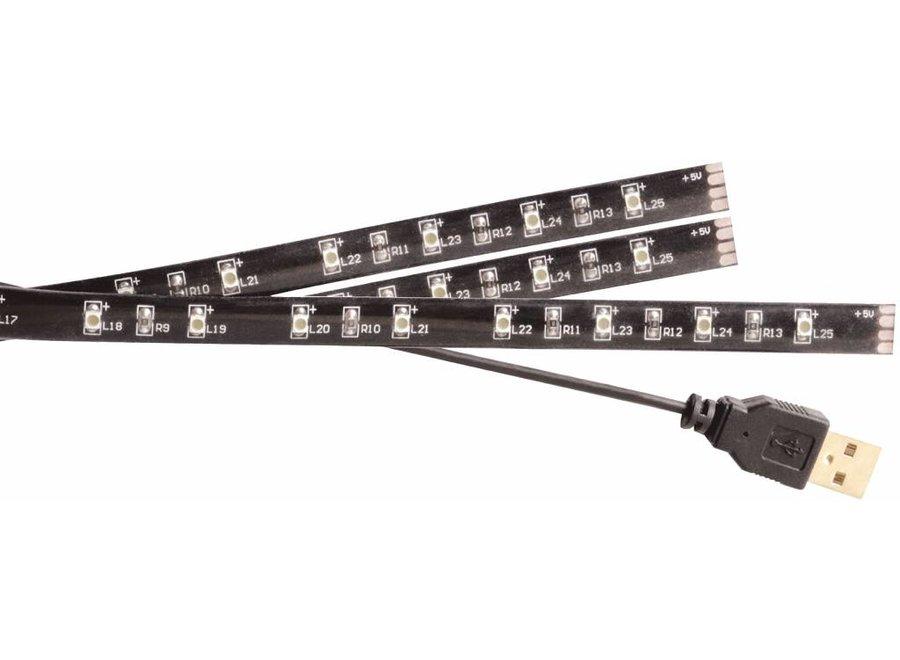 Konig USB LED TV-strip Dimbaar 2 x 45 CM 1 x 90 CM - Cool White