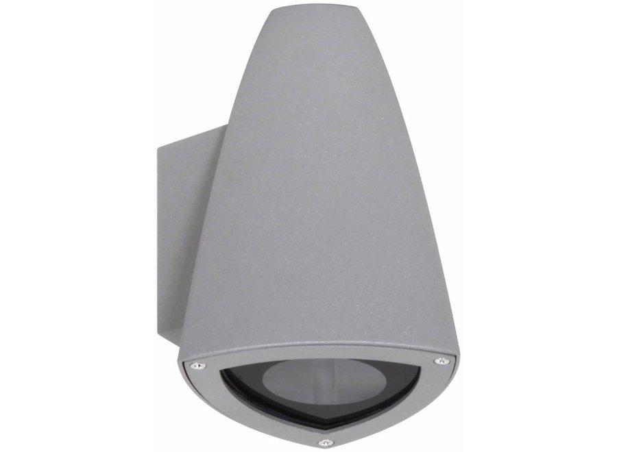 Ranex Jenny LED Wandlamp Aluminium Glas - Grijs