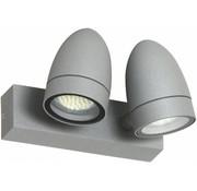 Ranex Ranex Margo LED Wandlamp Aluminium Glas - Grijs