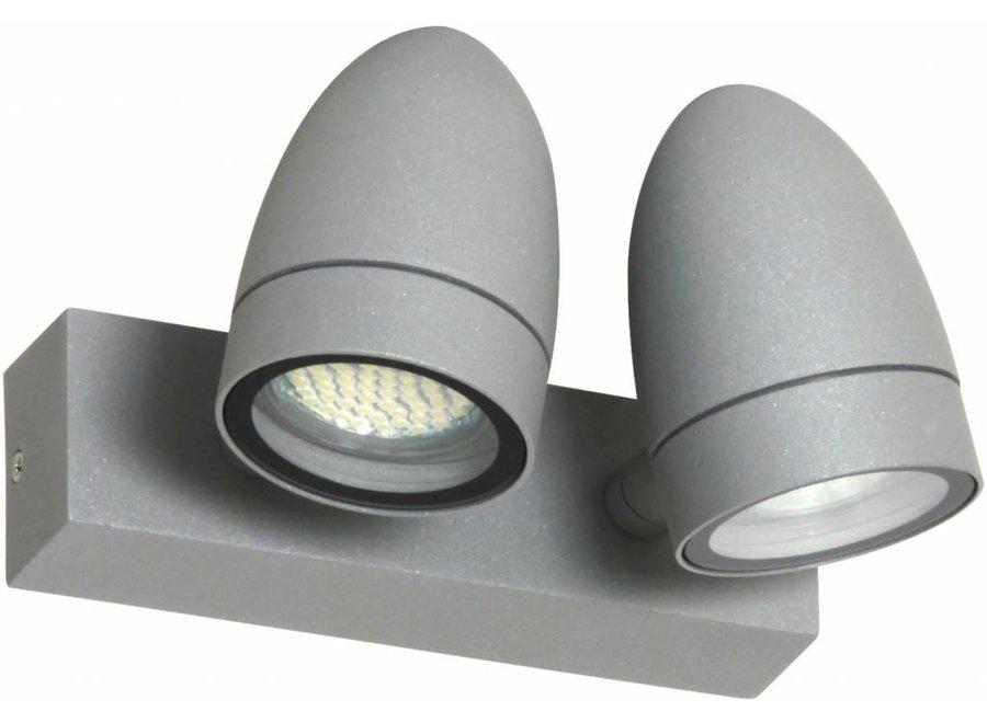 Ranex Margo LED Wandlamp Aluminium Glas - Grijs