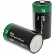 HQ HQ NiMH D-batterij 4000 mAh Oplaadbaar - 2 set
