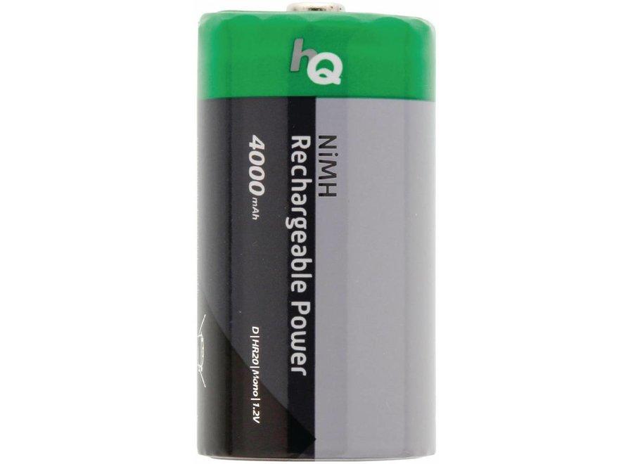 HQ NiMH D-batterij 4000 mAh Oplaadbaar - 2 set