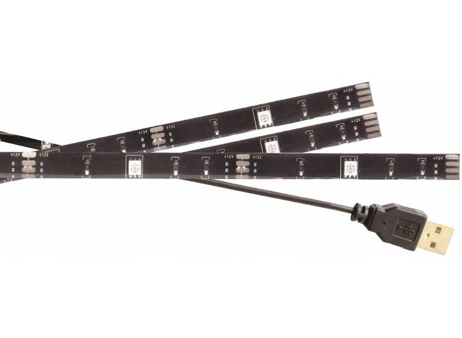 Konig USB LED TV-strip Dimbaar 2 x 50 cm 1 x 90 cm - Multicolour