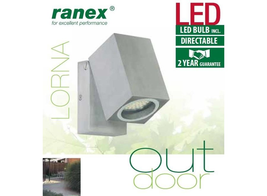 Ranex Lorna LED Wandlamp Aluminium Glas