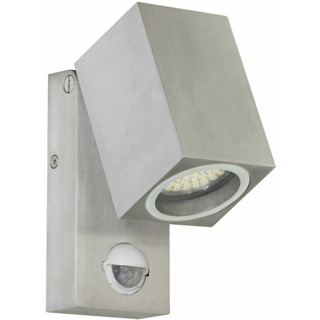 Ranex Lorna LED Wandlamp Aluminium Glas - Bewegingsmelder