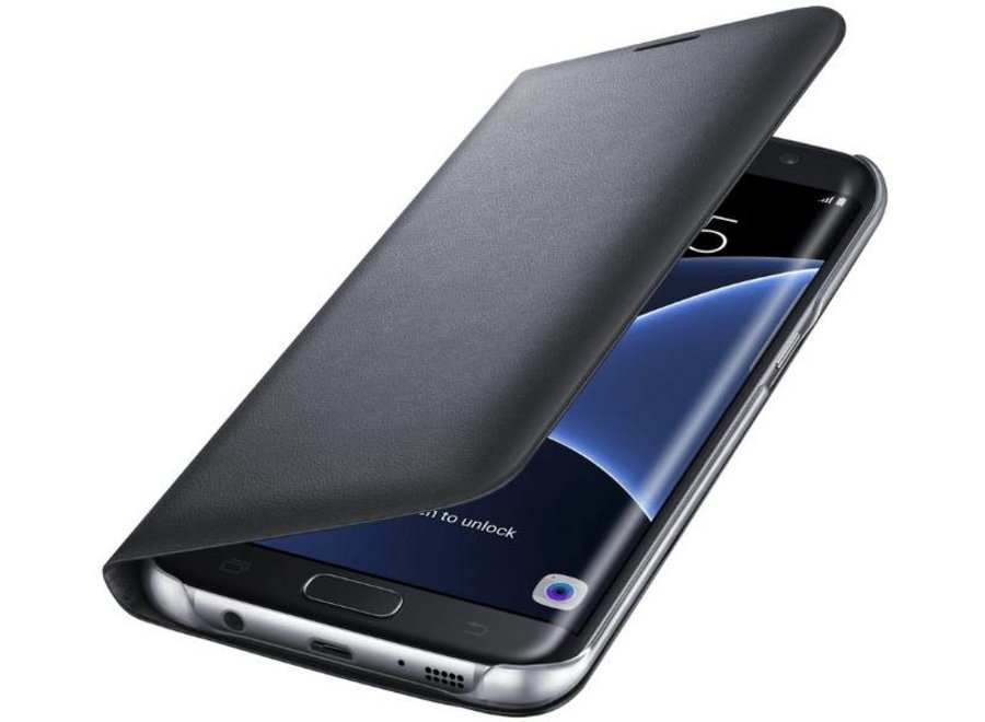 Samsung Galaxy S7 Edge EF-NG935PB LED View Cover - Zwart