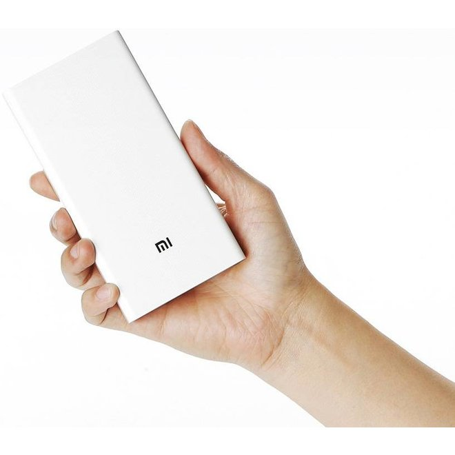Xiaomi LED Powerbank 20000 mAh Dual USB - White