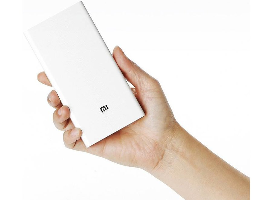 Xiaomi LED Powerbank 20000 mAh Dual USB - White