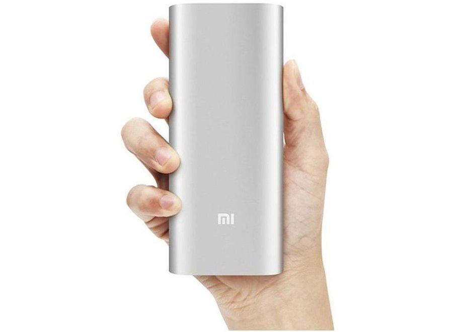 Xiaomi LED Powerbank 16000 mAh Dual USB - Silver