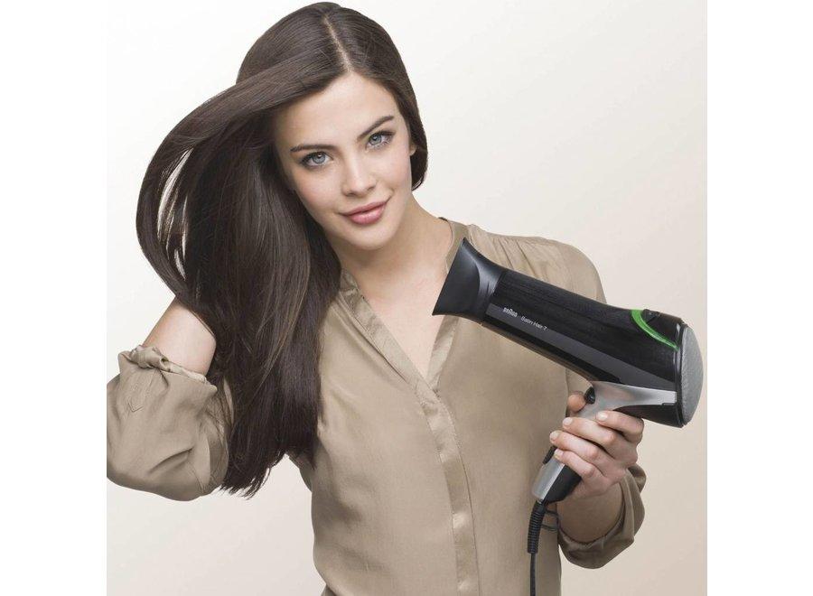 Braun HD 710 Solo Satin Hair 7 LED Föhn - Zwart
