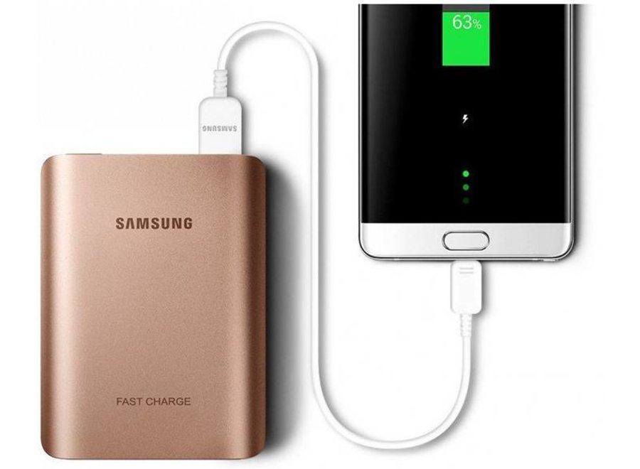Samsung EB-PN930CZ LED Powerbank Fast Charger 10200 mAh - Roze-Goud