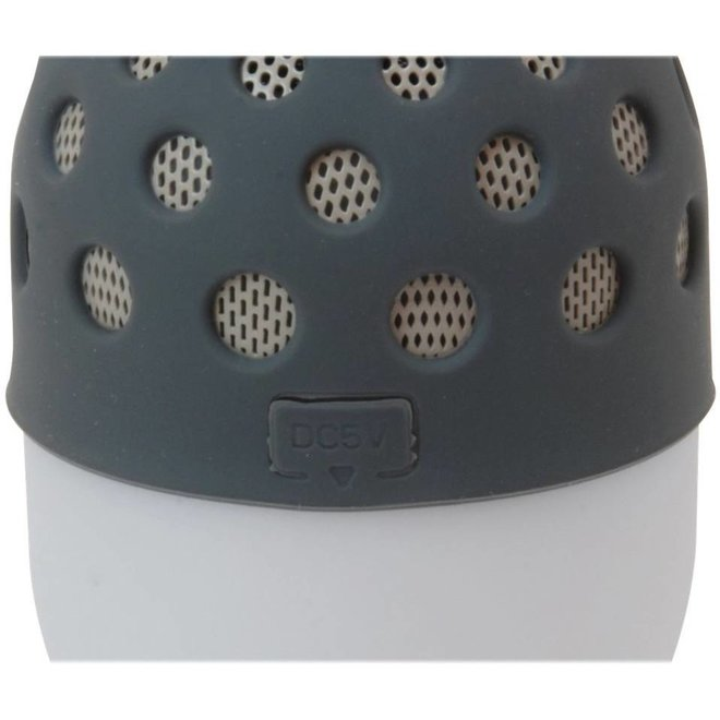 Conceptronic CSPKBTWPHLG Wireless Waterproof Bluetooth LED Speaker - Grijs