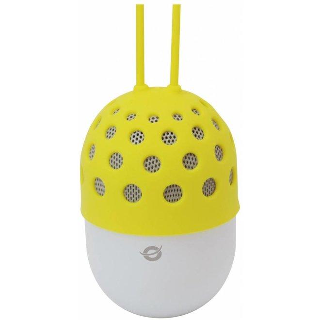 Conceptronic CSPKBTWPHLY Wireless Waterproof Bluetooth LED Speaker - Geel