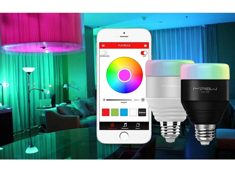 MiPow Playbulb Smart LED Lamp E27 5 W (40 W) - Zwart