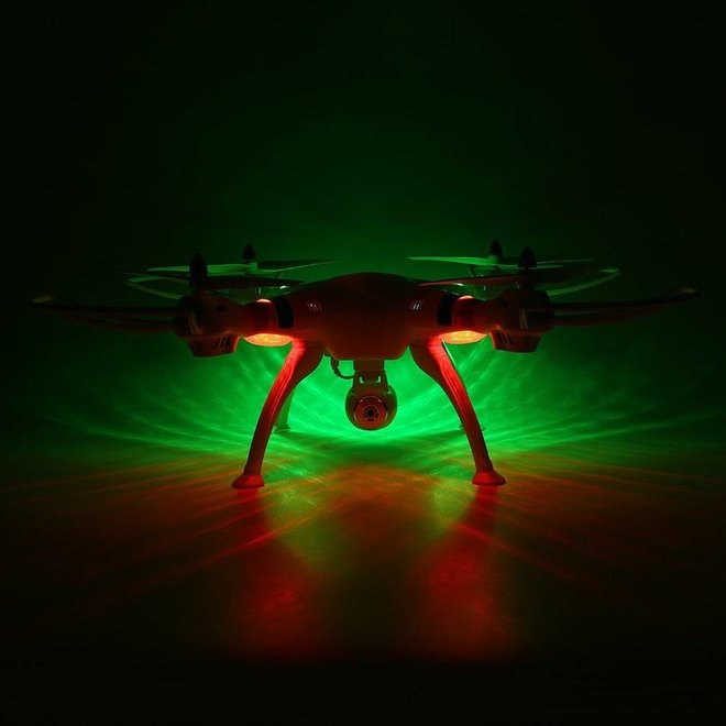Syma X8C Venture LED Quadcopter met 720p HD Camera - Wit