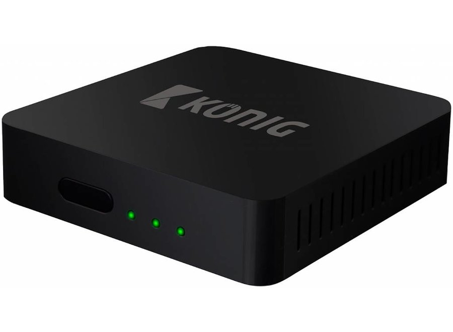 Konig 4K Android Streaming Box Met Fly Mouse - Zwart