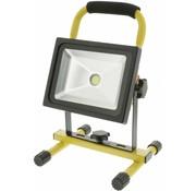 Konig Konig Mobiele COB LED-bouwlamp 20 W - Zwart / Geel