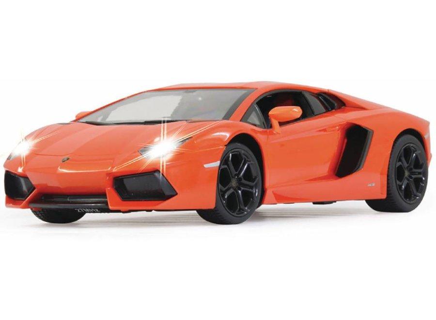 Jamara LED Lamborghini Aventador RC 1:14 - Oranje