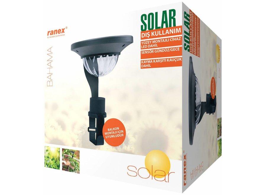 Ranex Mercury LED Solar Balkon Lamp - Zwart