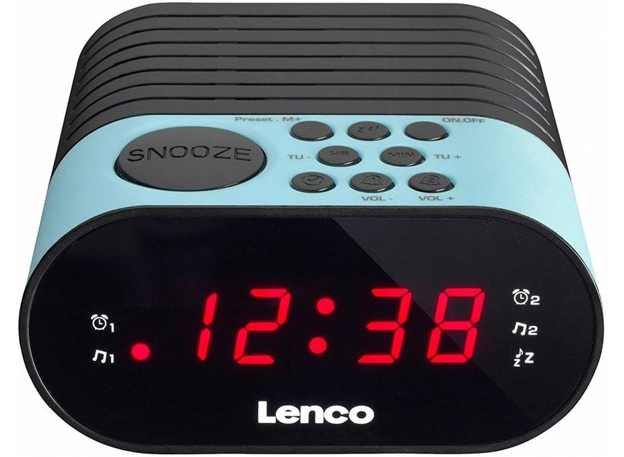 Lenco CR-07 LED Klokradio - Blauw