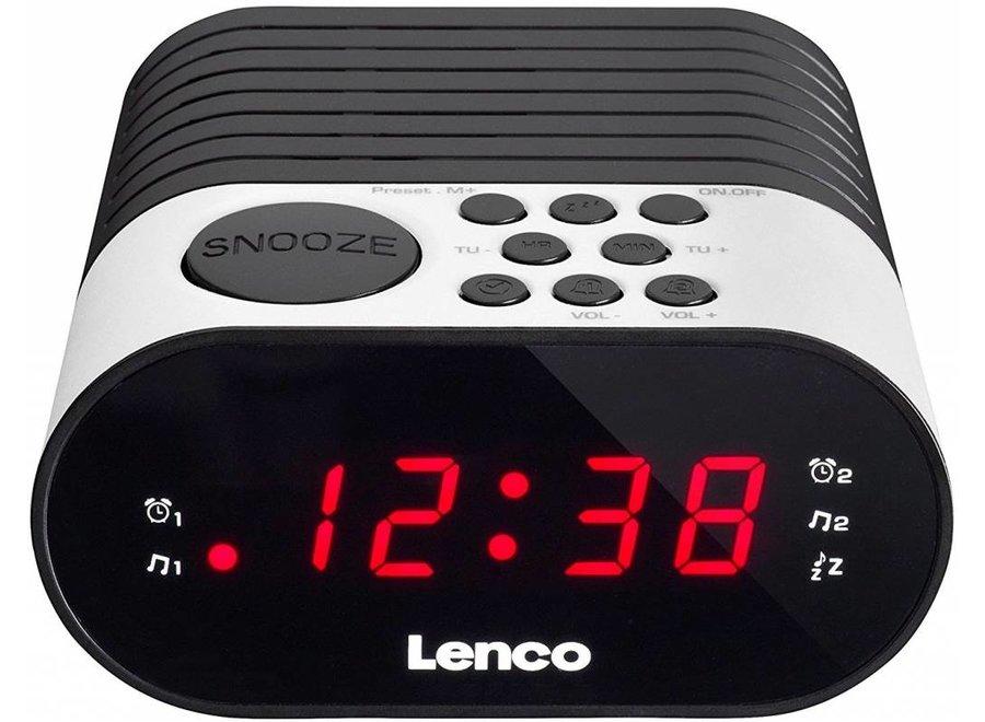 Lenco CR-07 LED Klokradio - Wit