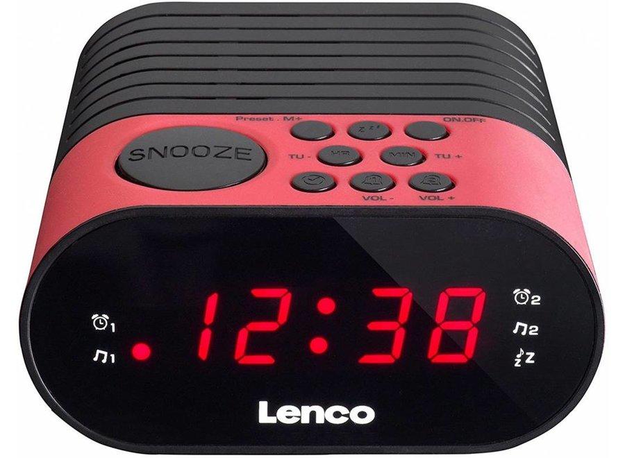 Lenco CR-07 LED Klokradio - Roze