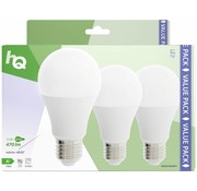 HQ HQ E27 A60 LED Lamp 3-pack 5.5W (40W) - 2700 K