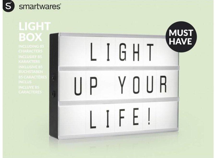 Smartwares A4 LED Lightbox + 85 karakters
