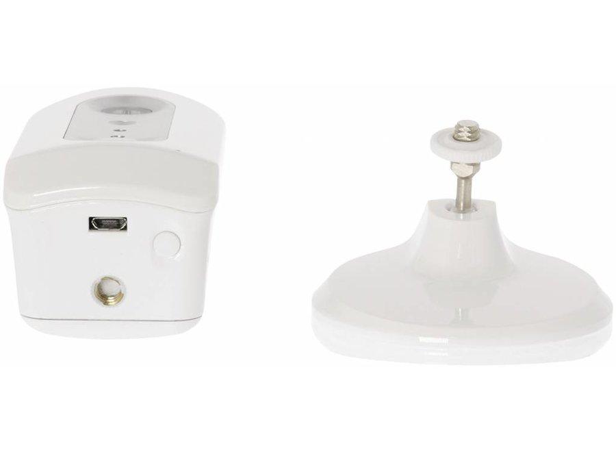Konig HD IP-Camera Binnen 720P Oplaadbaar Wit/Zilver
