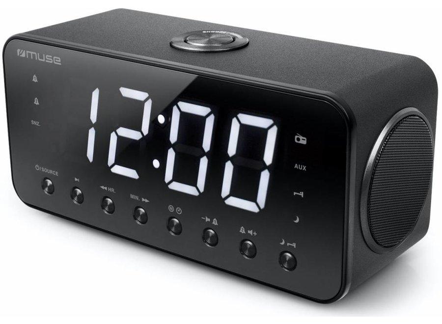 Muse M-192 CR Wekkerradio met Groot Display - Zwart