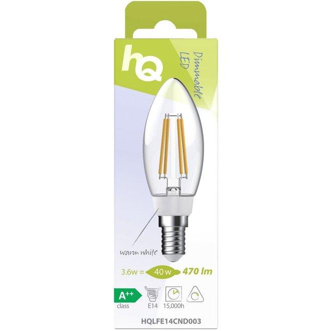 HQ E14 Retro Filament LED Lamp Kaars Dimbaar 3.6 W (40 W) - 2700 K