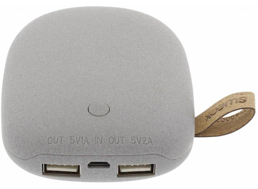 Sweex LED Powerbank 7800 mAh USB - Grijs