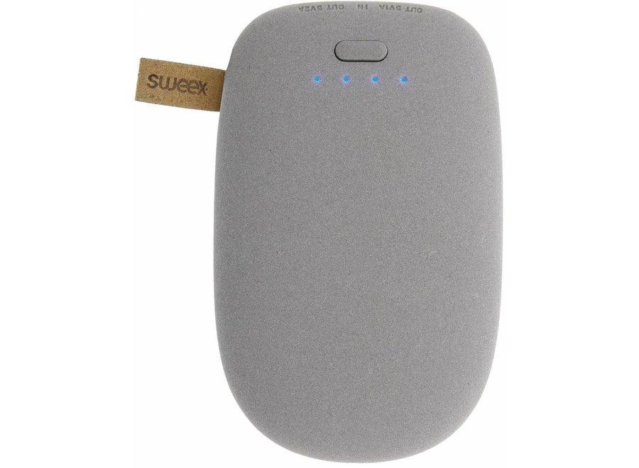 Sweex LED Powerbank 10400 mAh USB - Grijs