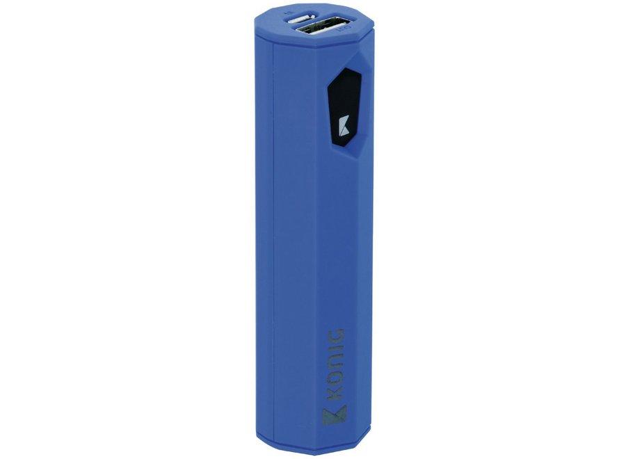Konig LED Powerbank 2500 mAh USB - Blauw