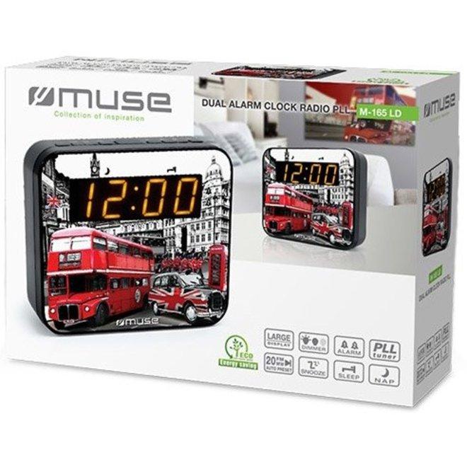 Muse M-165 LD Wekkerradio met Groot LED Display - Londen