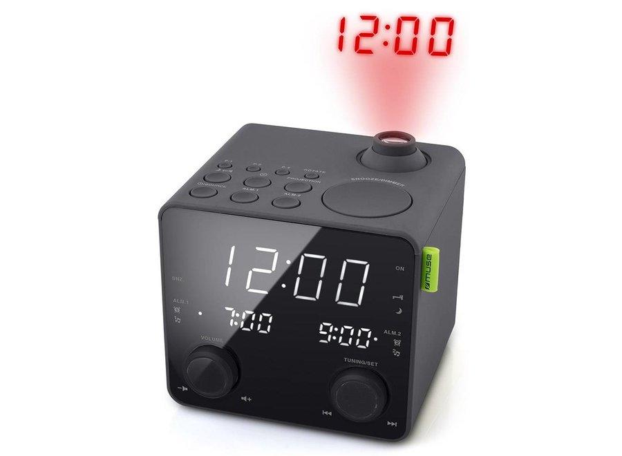 Muse M-189 P Wekkerradio met LED Projectie