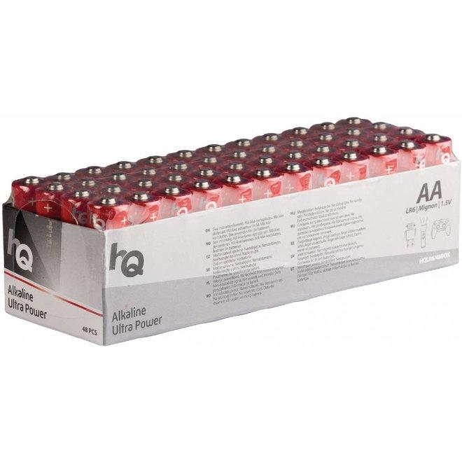 HQ Alkaline 48 x AA Batterij 1.5V - Voordeelbox