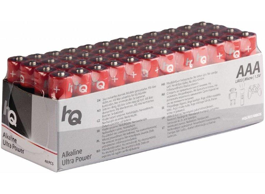 HQ Alkaline 48 x AAA Batterij 1.5V - Voordeelbox