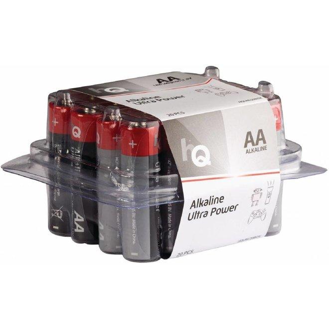 HQ HQ Alkaline 20 x AA Batterij 1.5V - Voordeelbox