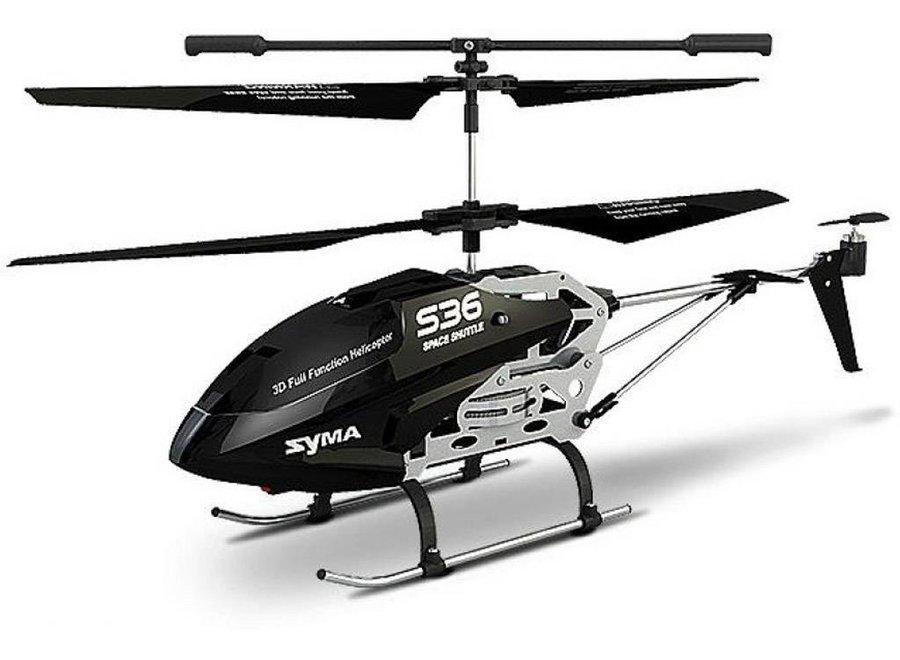 Syma S36 LED Helicopter - Zwart