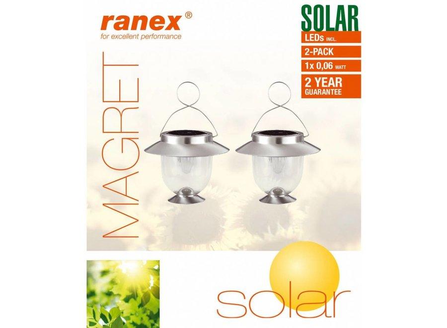 Ranex Magret Solar LED Lantaarn 2-pack