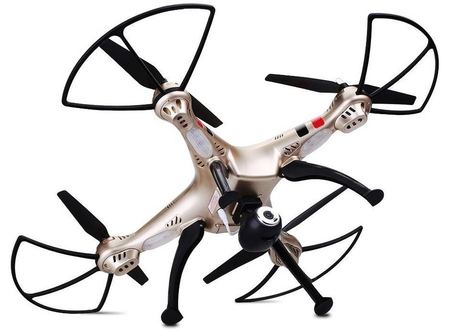 Syma X8HC LED Drone met 720P HD Camera - Goud