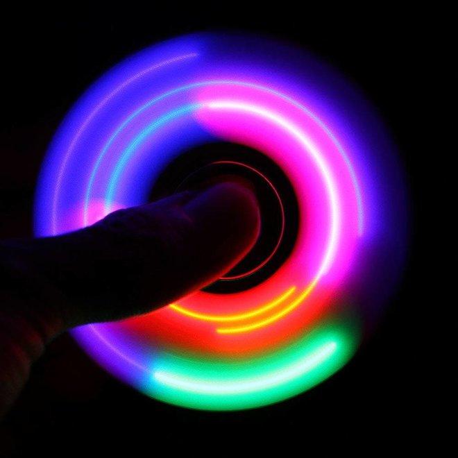 LED Fidget Hand Spinner - Mat Rood