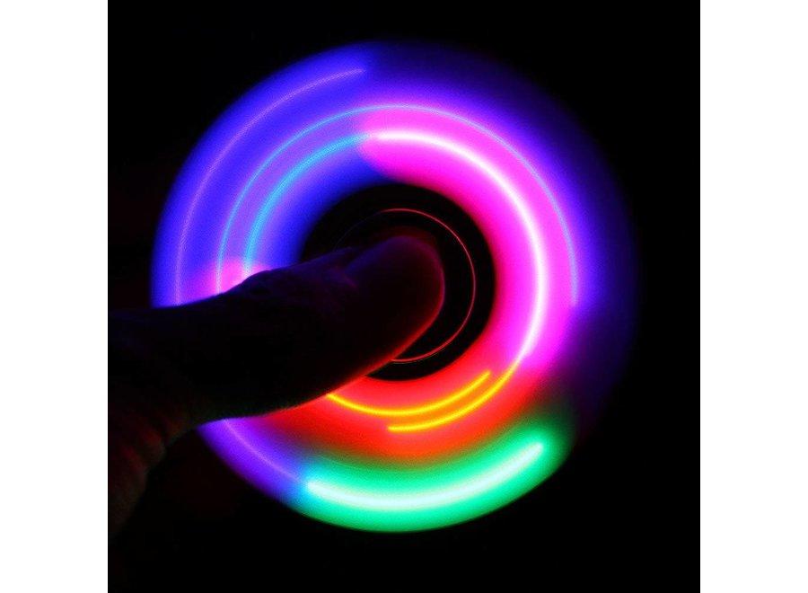 LED Fidget Hand Spinner - Mat Zwart