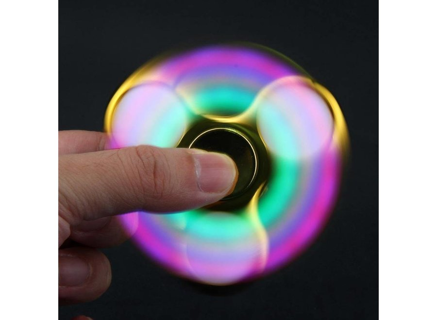 LED Fidget Hand Spinner - Chroom Goud