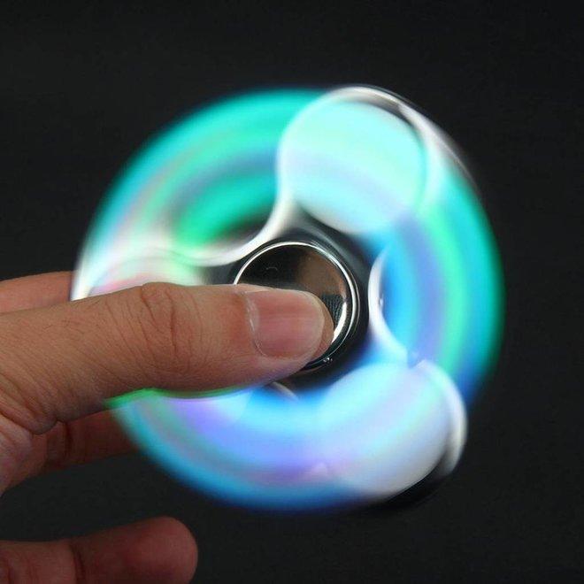 LED Fidget Hand Spinner - Chroom Zilver