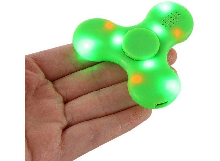 Bluetooth LED Speaker Fidget Hand Spinner - Mat Groen