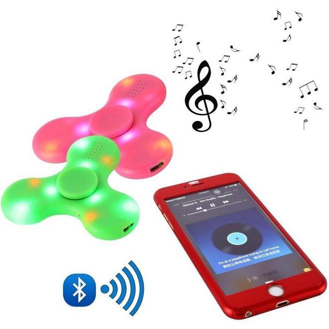 Bluetooth LED Speaker Fidget Hand Spinner - Mat Roze