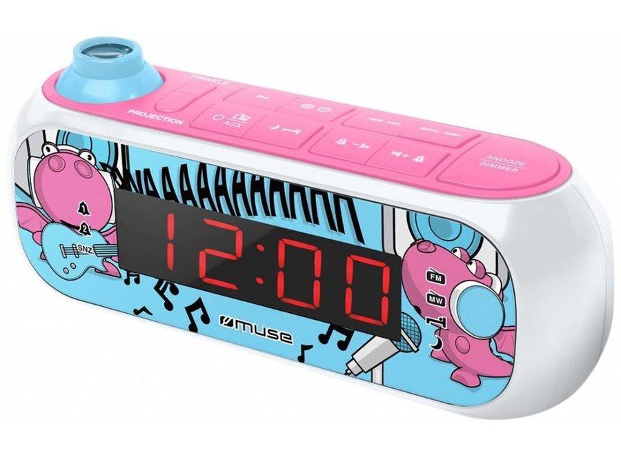 Muse M-167KDG Kids Wekkerradio met Projectie - Roze