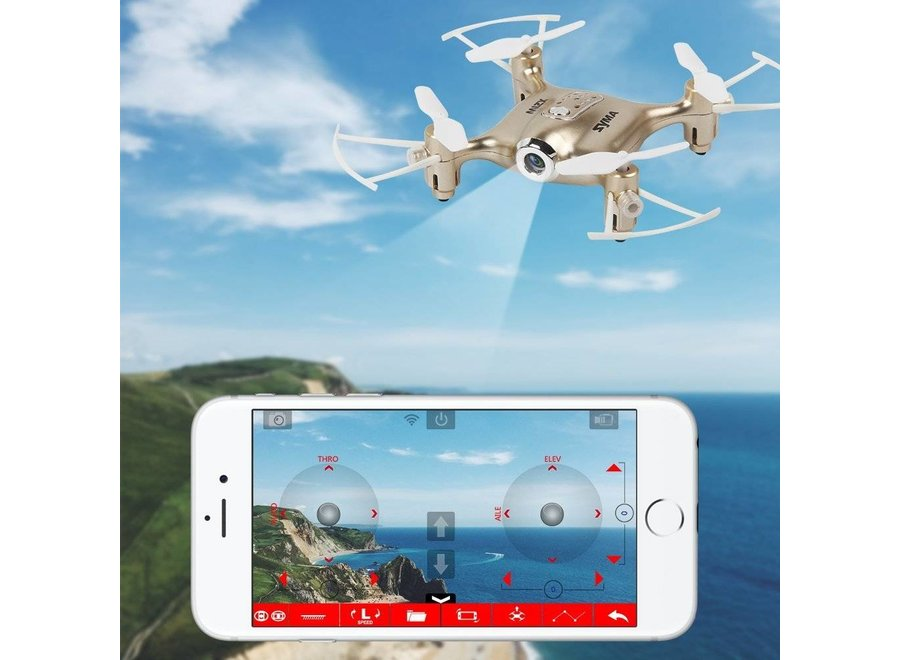 Syma X21W FPV Real-Time Quadcopter - Goud